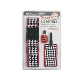 ORB Travel - Travel Essentials Kits-TE120-Houndstooth-Black/White/Red