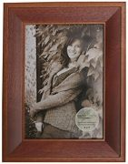 Earth Care Eco Friendly Tabletop and Wall Frames-720 5x7-Ravine-2 Tone Walnut-Photo Horizontal and Vertical With Easel and Hanger